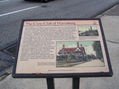 The Civic Club of Harrisburg Marker image. Click for full size.