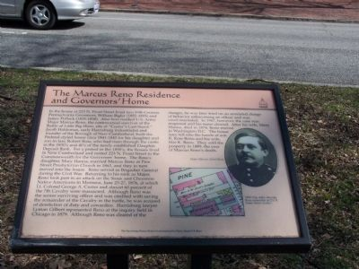 The Marcus Reno Residence and Governors' Home Marker image. Click for full size.