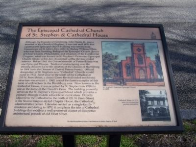 The Episcopal Cathedral Church of St. Stephen & Cathedral House Marker image. Click for full size.