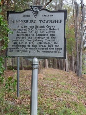 Purrysburg Township Marker Reverse side image. Click for full size.