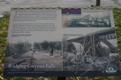 Bridging Gwynns Falls Marker image. Click for full size.