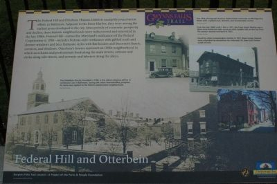 Federal Hill and Otterbein Marker image. Click for full size.
