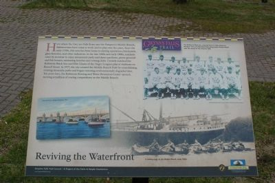 Reviving the Waterfront Marker image. Click for full size.