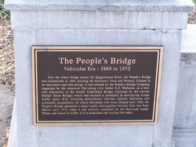 The People's Bridge Marker image. Click for full size.