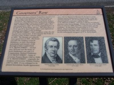 Governors' Row Marker image. Click for full size.