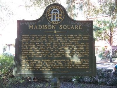Madison Square Marker image. Click for full size.
