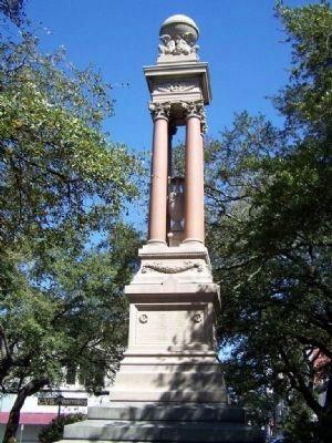 William Washington Gordon Monument at Center of the Square image. Click for full size.
