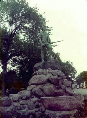 The Lexington Minuteman Statue was created by H.H. Kitson and was dedicated on 19 April 1900 image. Click for full size.