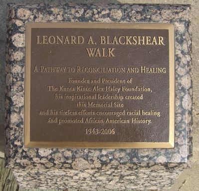 Leonard A. Blackshear Walk Marker image. Click for full size.