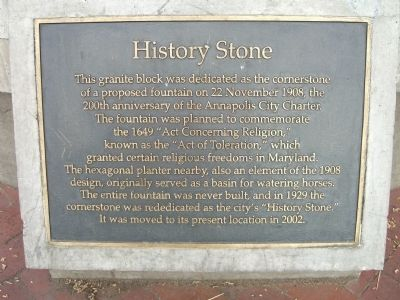 History Stone Marker image. Click for full size.