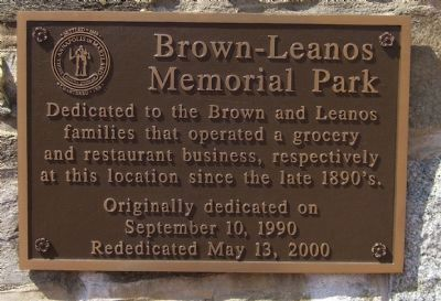 Brown-Leanos Memorial Park Marker image. Click for full size.