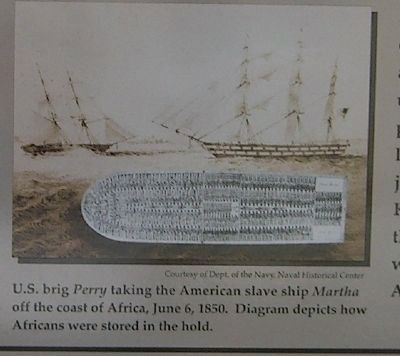 American slave ship and diagram of how Africans were stored in the hold image. Click for full size.