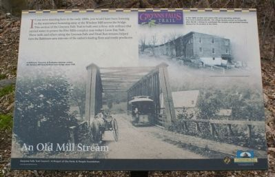 An Old Mill Stream Marker image. Click for full size.