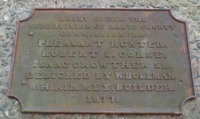 Bollman Bridge plaque image. Click for full size.