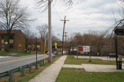 Leon Day Park sign, as seen from Franklintown Road image. Click for full size.