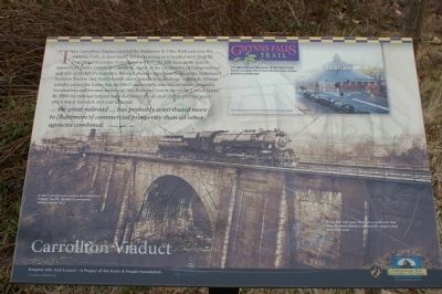 Carrollton Viaduct Marker image. Click for full size.