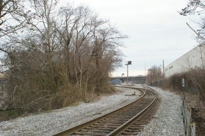 View atop the Carrollton Viaduct, looking west image. Click for full size.