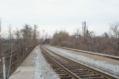 View atop the Carrollton Viaduct, looking east image. Click for full size.