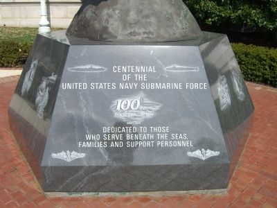 Centennial of the United States Navy Submarine Force Marker image. Click for full size.