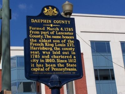 Dauphin County Marker image. Click for full size.