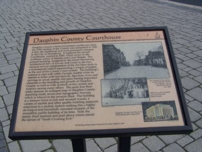 Dauphin County Courthouse Marker image. Click for full size.