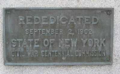 Rededication Plaque image. Click for full size.