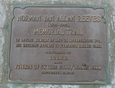 Norman Van Allan Reeves Marker image. Click for full size.