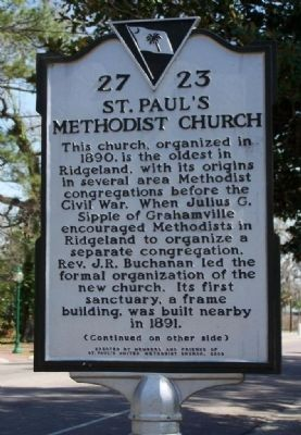 St. Paul's Methodist Church Marker image. Click for full size.