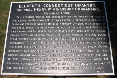 Eleventh Connecticut Tablet image. Click for full size.