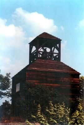 The Old Belfry nearby, Rang the Alarm Bell for the Minutemen call to arms image. Click for full size.