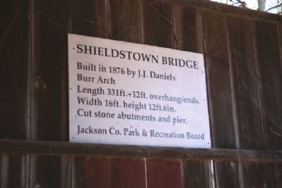 Shieldstown Bridge Marker image. Click for full size.