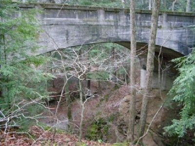 Old Highway Bridge over Turkey Run image. Click for full size.