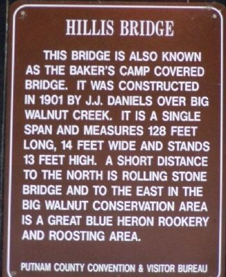Hillis Bridge Marker image. Click for full size.
