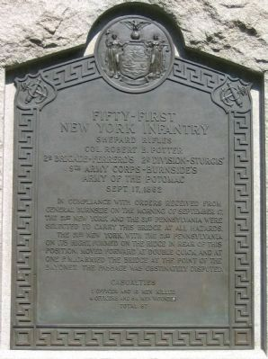 51st New York Monument Inscription image. Click for full size.