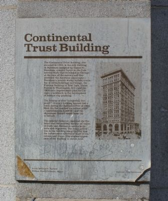 Continental Trust Building Marker image. Click for full size.