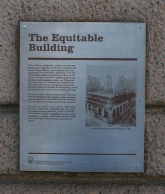 The Equitable Building Marker image. Click for full size.