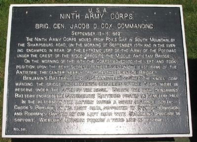 Ninth Corps Tablet image. Click for full size.