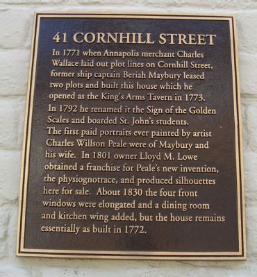 41 Cornhill Street Marker image. Click for full size.