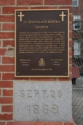 St. Stanislaus Kostka Church Marker image. Click for full size.