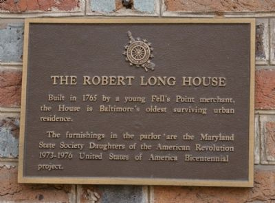 The Robert Long House Marker image. Click for full size.