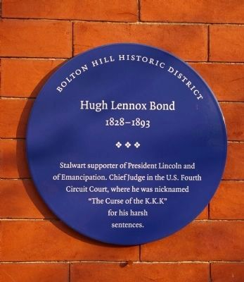 Hugh Lennox Bond Marker image. Click for full size.