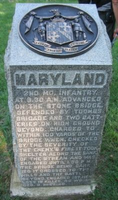2nd Maryland Infantry Monument image. Click for full size.