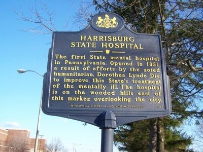 Harrisburg State Hospital Marker image. Click for full size.