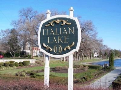 Italian Lake Sign image. Click for full size.