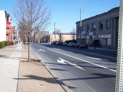 View of 6th Street from marker. image. Click for full size.