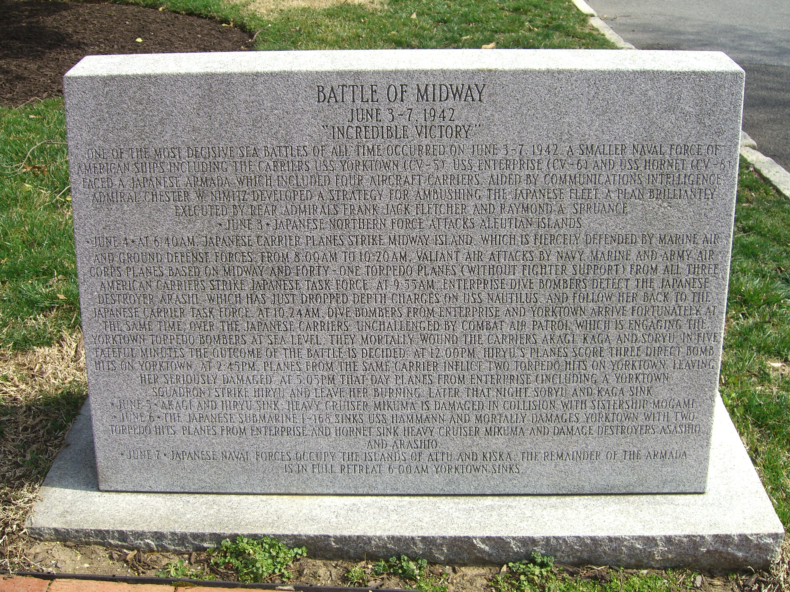 Monument to the Battle of Midway Marker
