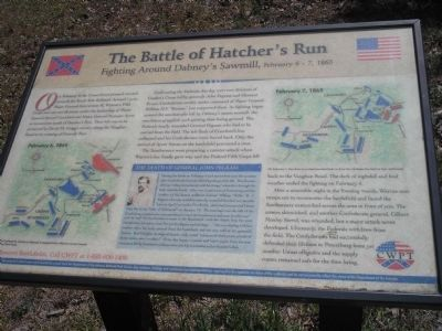 The Battle of Hatcher's Run Marker image. Click for full size.