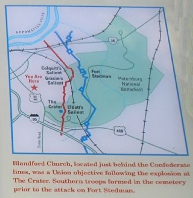 Blandford Church Battle Map image. Click for full size.