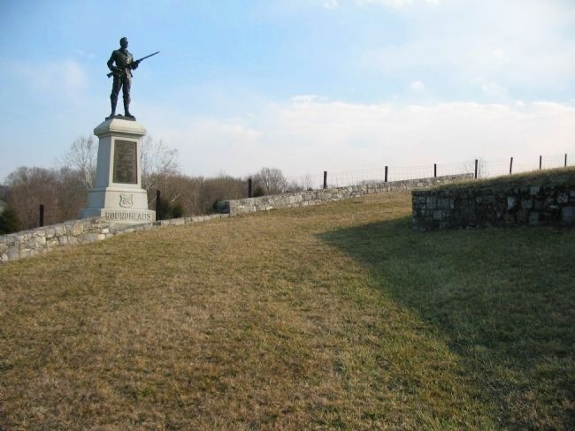 Another View of the 100th Pennsylvania Monument image. Click for full size.