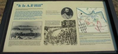 """It Is A.P. Hill"" Marker image. Click for full size."